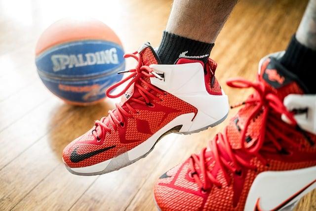 basketteur à l'entraînement