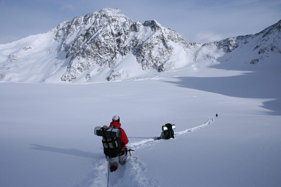 des skieurs amateurs