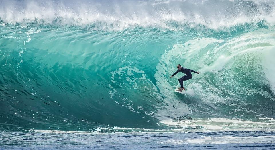 pratique du surf