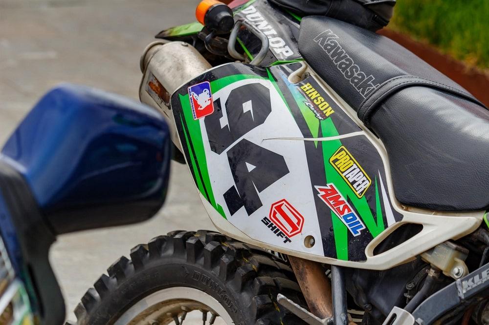 décoration sur une moto