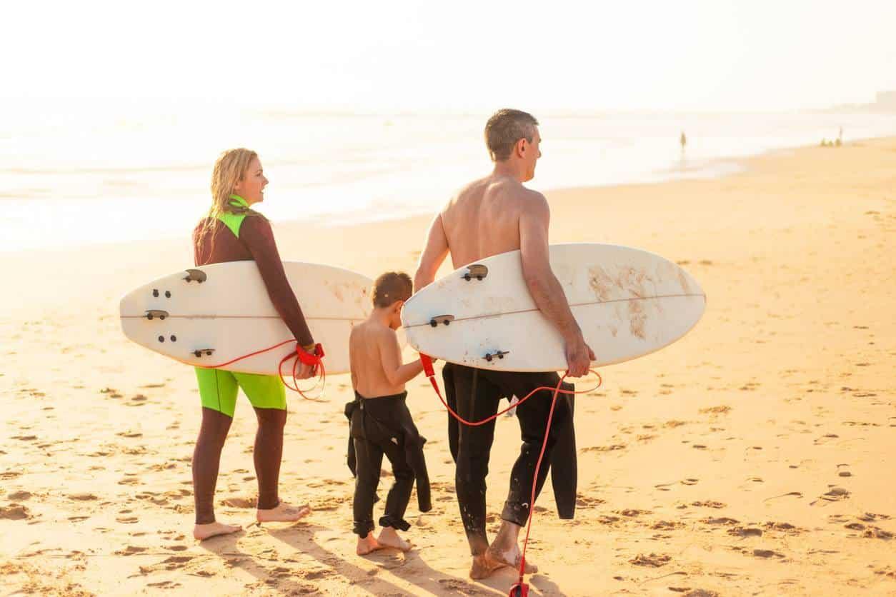 surf école apprentissage famille