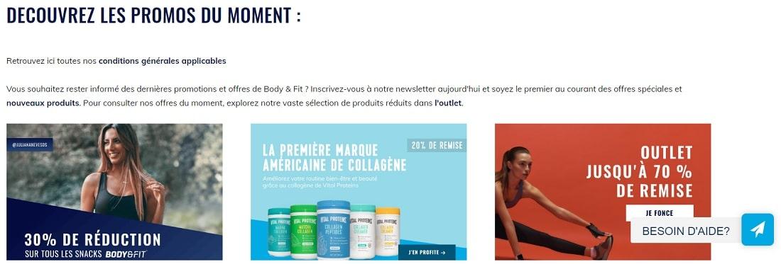 promotions de body & fit