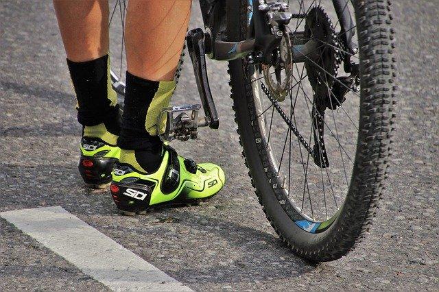 chausette de cycliste