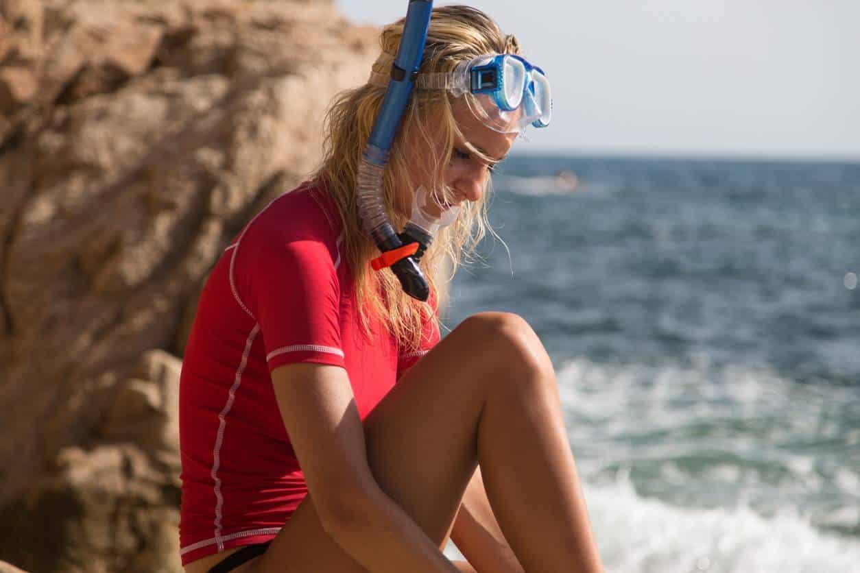 t-shirt lycra anti UV pour sport nautique