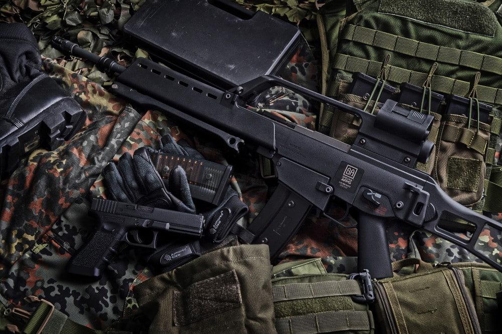 des armes d'airsoft