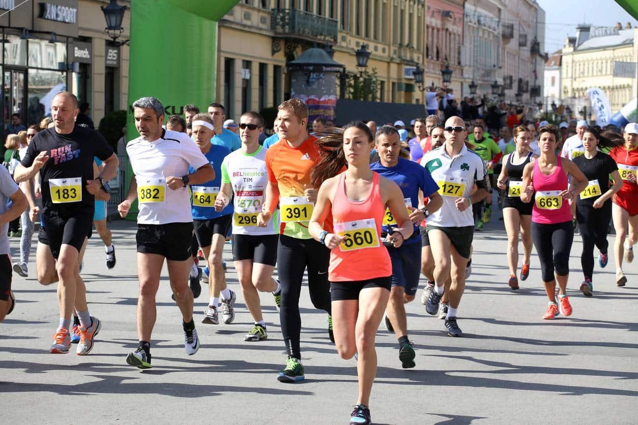 un marathon dans une grande ville