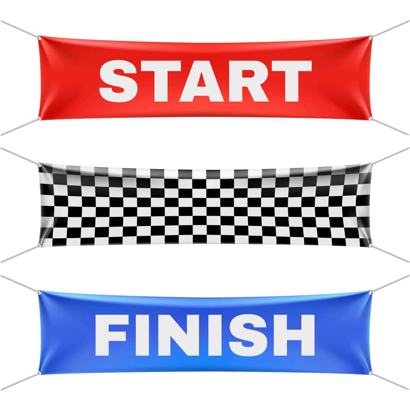 drapeau start pour un marathon
